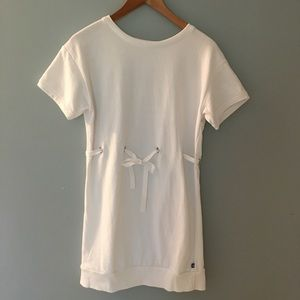 Fabletics white sweatshirt dress